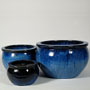 BOWL PLANTER - BLUE