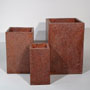 TALL SQUARE PLANTER - RED