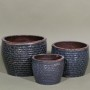 RUSTIC STAGGERED PLANTER - BLUE