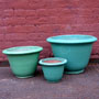 FLARED PLANTER - PASTEL GREEN