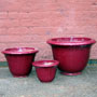 FLARED PLANTER - PASSION RED